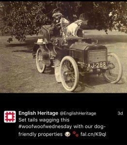 English Heritage use #woofwoofwednesday