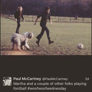 Sir Paul McCartney uses #woofwoofwednesday