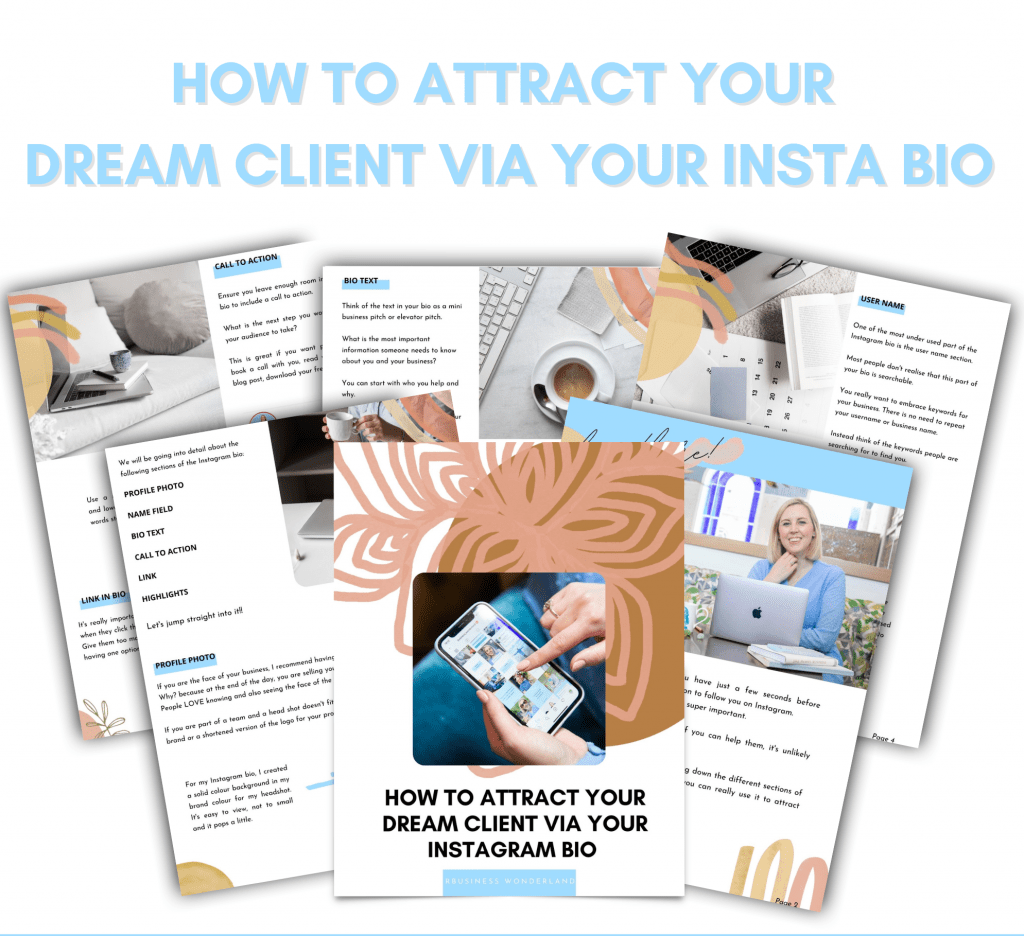 How to optimise your instagram bio to attract your dream client